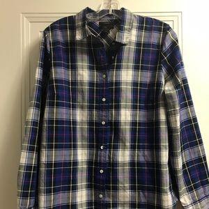 Ladies J.Crew Plaid Shirt,